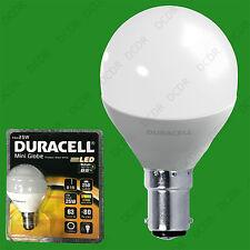 2x 4W (=25W) Duracell LED Frosted Mini Globe B15 SBC Round G45 Light Bulb Lamp