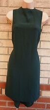 TOPSHOP GREEN PENCIL LONG NECK ELEGANT FORMAL WORK TUBE BODYCON DRESS 4 XXS