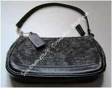 Large Coach Wool Wrislet Black Gray Excellent Used Condition Free US Shipping