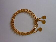 Bracelet , chaîne de poignet FEMME OU ENFANT plaqué or 24 carats 3 microns NEUF