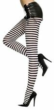 Sexy Gothic Punk Opaque Wide Large Small Striped Full Stocking Pantyhose Costume