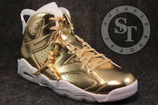 AIR JORDAN 6 VI RETRO P1NNACLE 854271-730 PINNACLE METALLIC GOLD WHITE SZ: 8.5