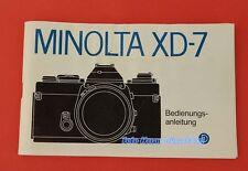 Minolta XD-7 originale Bedienungsanleitung deutsch 01216