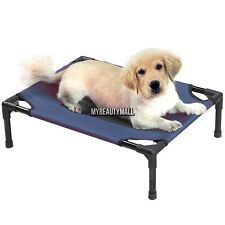 Elevated Pet Bed Large Green. Dog Cot Raised Off Ground Steel Frame MY8L