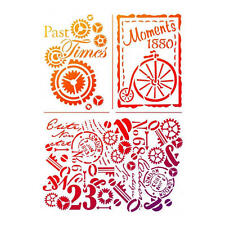 Viva Decor Universal Stencil A4 - Past Times #703