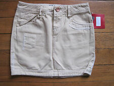 SEVEN JEANS 7 sexy mini SKIRT 8 RP£100 new retro mod vintage tan