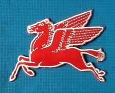 RED PEGASUS FLYING HORSE MOBIL OIL GASOLINE GAS SOW SEW IRON ON PATCH BADGE