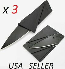 Lot of 3 Credit Card Thin Knives Cardsharp Wallet Folding Pocket Micro Knife new