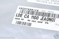 100pcs - ARCOTRONICS 1000P (1000pF 1nF) 50V 1206 LDE DA 1100 J SMD Capacitor