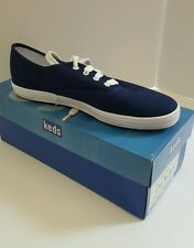Keds Original Navy Blue Champion Canvas Oxford Sneakers Shoes 8S WF34000 New Box