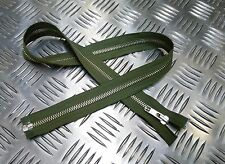 "Genuine British Military YKK 28"" Open End Green Metal Zip / Zipper H Duty ZPM15"