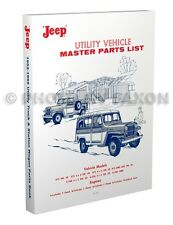 1952-1965 Jeep Pickup Station Wagon Parts Catalog Willys Truck Sedan Delivery