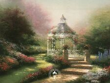 The Hidden Gazebo --- Steps, Painter of Light --- Thomas Kinkade Dealer Postcard