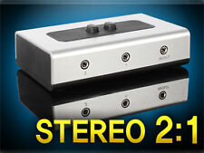 Stereo Splitter 3.5mm audio speaker earphone smartphone PC switch 2:1 selector