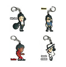 MJ Michael Jackson Key Chain Ring Bag Tag 4 Set Loose No Packing