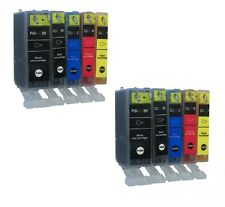 10xDruck ink cartridges for Canon iP5200,MP830,iX4000,IX5000,MP510,MP520mit Chip