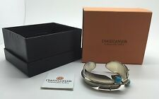 BNIB CHACO CANYON STERLING SILVER/TURQUOISE FEATHER CUFF BRACELET!