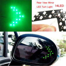2 Pcs Arrow Panel 14SMD LED Car Side Mirror Turn Signal GREEN DSUK