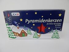 50 German Christmas Pyramid Candles Red EWA Jeka 14MM X 70MM Windmill
