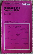 Ordnance Survey landranger MAP 181 Minehead, watchet & BRENDON Hills 1:50000 UK