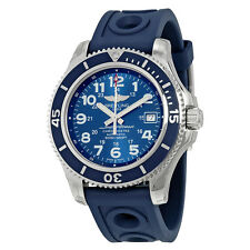 Breitling Superocean II 42 Automatic Blue Dial Blue Rubber Mens Watch