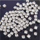 FD141 100pcs Sew on Clear Crystal Rhinestones Diamond Flatback Craft Dress Make
