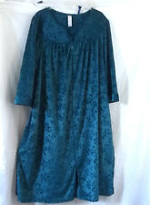 MOTHER'S DAY GREEN ROBE ZIPPER FRONT PYJAMAS NIGHTGOWN VELVET 2 POCKET S 4 -6