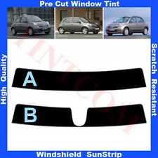 Pre Cut Window Tint Sunstrip for Nissan Micra 5 Doors Hatch 2003-2010 Any Shade