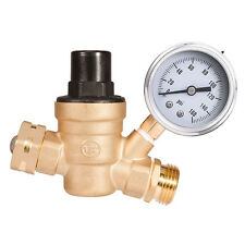 """1PC 3/4"""" NH Threading Water Pressure Reducing Valve Lead-Free Brass Adjustable"""