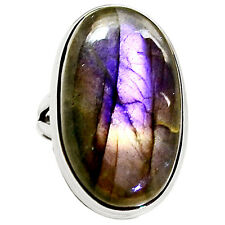 Purple Labradorite 925 Sterling Silver Ring Jewelry s.6.5 9027R