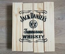 Jack Daniels Rustic Wooden Wall Sign Breweriana Upcycled Wood Man Cave Bar
