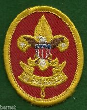 BOY SCOUT  PATCH - 1st CLASS - PLASTIC BACK  - FREE SHIPPING        XX