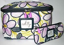 2pcs Milly for Clinique Flower Makeup Bag Set New
