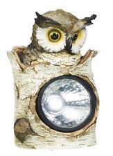 Hibou Lampe Solaire 3 LEDs, 23 cm Eclairage de jardin Luminaire Spots