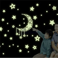 Wall Sticker Glow In The Dark Moon and Stars Baby Bedroom Home Luminescent Decor