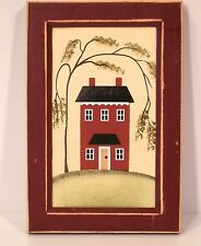 Framed Canvas print Colonial Old Style House Home Decor