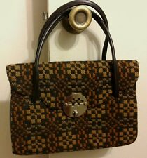 GR8 4 FALL- AUTHENTIC VINTAGE WELSH BROWN TAPESTRY 100% WOOL HANDBAG