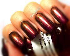 Chameleon Color Shifting Nail Polish Top Coat- Purple/Maroon/Gold - Full Size