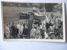 Ansichtskarte Foto von Mauderer Völkersbach Krs. Karlsruhe Prozession Kreuz??