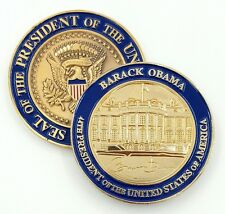 "US President (44th) Barack Obama, White House Challenge Coin 2"" in 3D+!!"