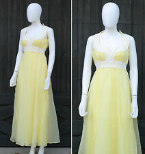 Vintage 60s 70s Mike Benet Chiffon Party Prom Dress