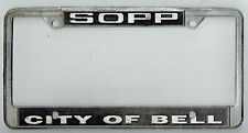 Bell California Maurice Sopp & Son Chevrolet Vintage Dealer License Plate Frame