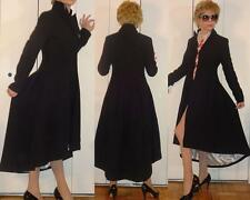 High Fashion Sexy and Feminine Black asymmetrical fitted Frock Coat Redingote