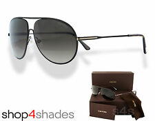 Tom Ford Cliff Aviator Sunglasses Matte Dark Brown_Graduated Brown FT0450 49K 61
