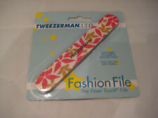 Tweezerman Fashion File - Two-Sided - Pink and Tan Floral