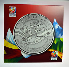 PURE FINE SILVER $20 COIN - FIFA WOMEN'S WORLD CUP 2015 - CANADA