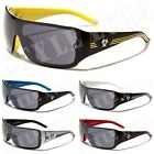 Oversized Retro Shield Biohazard Mens Designer Sunglasses Goggle Style Shades