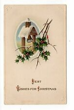 Best Wishes For Christmas, Vintage  Postcard, Mar