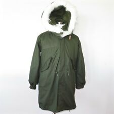 VINTAGE US ARMY 1980s M-65 M65 FISHTAIL PARKA COMPLETE WITH LINER HOOD XSMALL