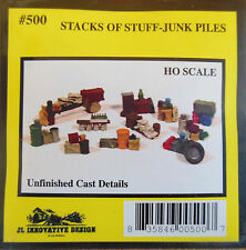 STACKS OF STUFF- JUNK PILES- UNFINISHED HO-SCALE DETAILED METAL CASTINGS KIT